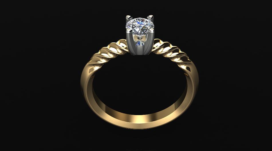 Κ18 λευκό και κίτρινο χρυσό μονόπετρο με διαμάντι 58d26544e90
